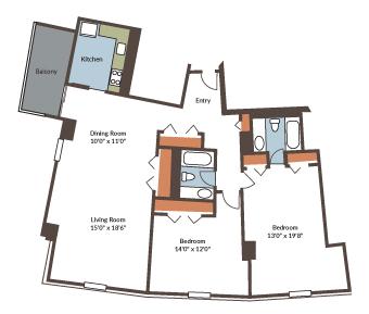 Apartment 1350 SqFt