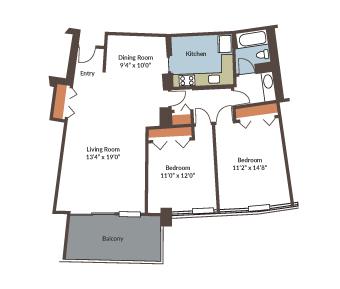 Apartment 1915 SqFt